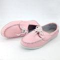 【ALicE】Y413-6 簡約紳士綁帶造型真皮鞋-粉紅