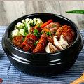 晶輝居家-附托盤,瓷器石鍋拌飯鍋韓國石鍋拌飯/泡菜鍋 韓式餐廳專用 量多可來電洽詢(F1053)16公分