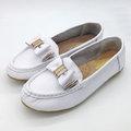 【ALicE】Y431-8 簡約休閒大蝴蝶造型真皮鞋-白