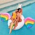 浮板-獨角獸彩虹飛馬成人水上浮床躺椅充氣天鵝火烈鳥遊泳圈坐騎漂浮排TW【日韓流行館】浪漫衣櫥