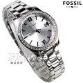 FOSSIL 羅馬風情 鑲鑽女錶 鑽錶 日期顯示窗 不銹鋼 防水手錶 精品 銀色 ES4317