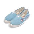 (中大童) 卡娜赫拉 帆布休閒鞋 水藍 KI8304 童鞋 鞋全家福