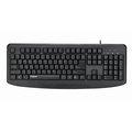 Rapoo雷柏USB有線鍵盤NK2500加購KINYO紓壓滑鼠墊MP-231