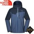 【The North Face 男款 GORE-TEX 可套接防水外套《藍色》】防水外套/外套/防風外套/2UB9LKM
