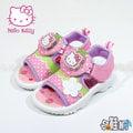 Hello Kitty 凱蒂貓 電燈鞋 涼鞋 休閒鞋 魔鬼氈設計 可愛風格【哈鞋網】KT817911F 粉色