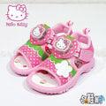 Hello Kitty 凱蒂貓 電燈鞋 涼鞋 休閒鞋 魔鬼氈設計 可愛風格【哈鞋網】KT817911P 桃紅色