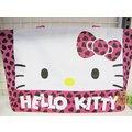 【JPGO日本購】日本進口 Hello Kitty 凱蒂貓 桃色 愛心 大臉 側背袋