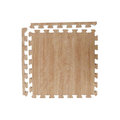 【新生活家】耐磨櫸木紋地墊-淺色45x45x1.2cm4入(附邊條)