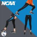 NCAA 女款彈性側邊拼接機能緊身七分褲