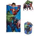 出口美國Avengers復仇者聯盟鋼鐵人、綠巨人、美國隊長款藍色睡袋+收納袋組(3歲以上適用)官網同步現貨供應…