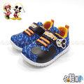 DISNEY 迪士尼米奇 運動鞋 休閒鞋 魔鬼氈設計【哈鞋網】MD117025BE 藍色