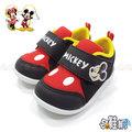 DISNEY 迪士尼米奇 寶寶鞋 休閒鞋 帆布鞋 【哈鞋網】MD117032BK 黑色