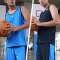 [ FEEL 9s ] NCAA 單層雙面穿 輕量 排汗 球衣+球褲 水藍 機能黑 C614303-550