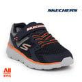 【Skechers】【全方位運動戶外館】童款休閒鞋 GO RUN 400-黑橘色 (97680LNVGY)