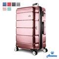 【Rowana】 經典橫紋29吋防爆拉鍊 ABS 旅行箱/行李箱【29吋】(鐵灰、紅色、藍色)
