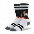 【Brand T】免運 現貨 STANCE x MLB MIAMI MARLINS SOCKS 邁阿密*馬林魚隊*長襪*中筒襪 / M558A16MRL-BK