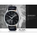 ALBA 雅柏 手錶專賣店 國隆 AS9D39X1 石英男錶 皮革錶帶 黑 防水50米 日期顯示 全新品 保固一年 開發票