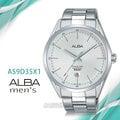 CASIO時計屋 ALBA 雅柏手錶 AS9D35X1 石英男錶 不鏽鋼錶帶 銀白 防水50米 日期顯示 全新品 開發票