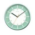 RHYTHM CLOCK 麗聲現代藝術淺綠反面白刻劃滑動式秒針靜音掛鐘 型號:CMG544NR05【神梭鐘錶】