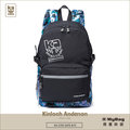 Kinloch Anderson 金安德森 後背包 繽紛星空 黑色 印花反光大容量後背包 KA179001BKF MyBag得意時袋