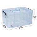 315百貨~居家收納 K036 *3入組強固型 掀蓋整理箱 K-036 / 置物櫃 玩具箱 收納箱 65L