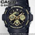 CASIO 卡西歐 手錶專賣店 國隆 G-SHOCK AW-591GBX-1A9 雙顯男錶 樹脂錶帶 黑X金 防水200米 AW-591GBX