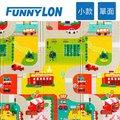 FUNNYLON 韓國兒童遊戲單面地墊城市旅遊240*200cm N-LSI-0119