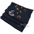 【全新現貨 進8條】茱麗葉精品 COACH 26952 可愛刺繡圖案羊毛絲質披肩長圍巾.深藍現金價$2,380
