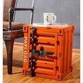 【J.Simple工業風 北歐】鐵製小邊櫃/LOFT鐵製置物櫃/美式置物櫃收納櫃鐵櫃收納櫃/工業風桌子/椅子/長桌長椅/