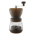 咖啡嘀家 Tiamo 密封罐陶瓷磨豆機 雕花密封罐設計 黑色 HG6149BK