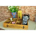 ZAKKA☆精品 鄉村風 手工原木八格木盒收納箱 整理收納盒 儲物箱 園藝 展示櫃 1501012