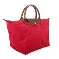 【姐只賣真貨】LONGCHAMP短提把兩用小型尼龍水餃包側背包斜背包手提包(紅色)