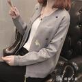針織開衫 春秋季刺繡針織女裝學生棒球服短款百搭秋裝小外套新款開衫潮 ~~~免運I1