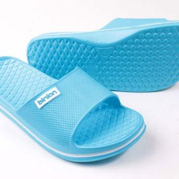 【333家居鞋館】晶亮菱格紋室外拖鞋 水藍色-任