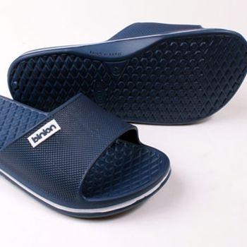 【333家居鞋館】晶亮菱格紋室外拖鞋 深藍色-任