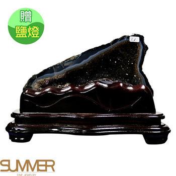 【SUMMER寶石】《3.1kg》巴西5A天然紫晶洞《加贈鹽燈》(1118-06)