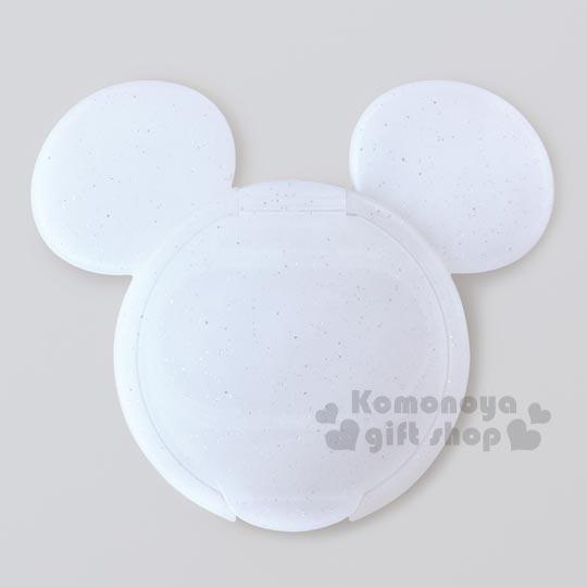 〔小禮堂〕迪士尼 米奇 日製造型濕紙巾蓋《白.大臉.閃亮亮》可重複使用