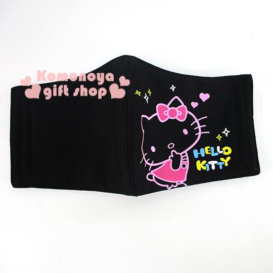 〔小禮堂〕Hello Kitty 成人立體口罩《黑.翹臀.愛心》感冒對策用品