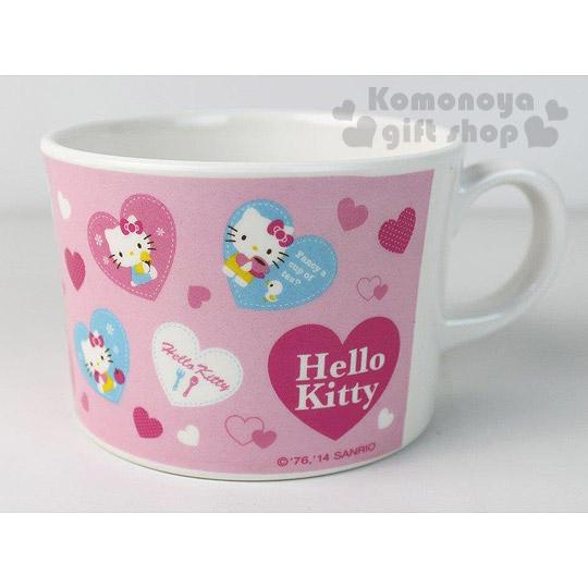 〔小禮堂〕Hello Kitty 美耐皿寬口湯杯《粉.愛心氣球》輕巧可愛
