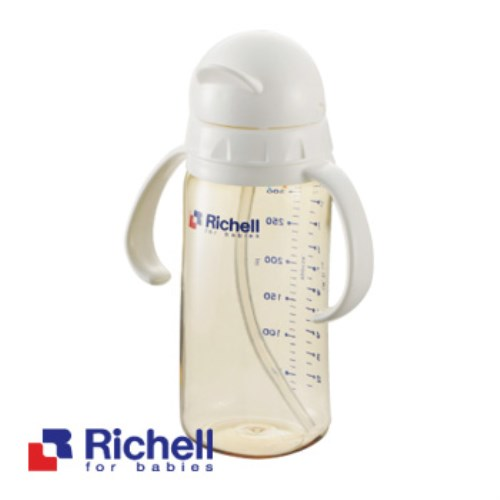 Richell日本利其爾 PPSU吸管型哺乳瓶 / 320ml