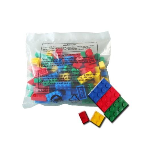 DELSUN [DELSUN 100S] 兒童積木 原色積木 100顆入 台灣製造 安檢