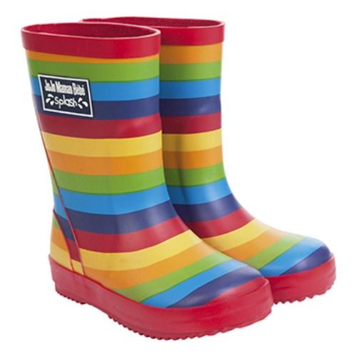 【HELLA 媽咪寶貝】英國 JoJo Maman BeBe 嬰幼兒童雨鞋 彩虹(JJWG1-008)