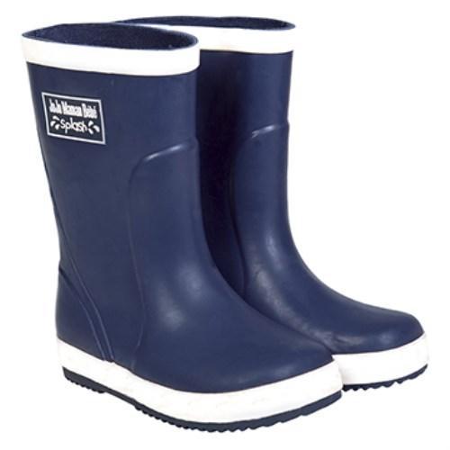 【HELLA 媽咪寶貝】英國 JoJo Maman BeBe 嬰幼兒童雨鞋 深藍(JJWG1-009)