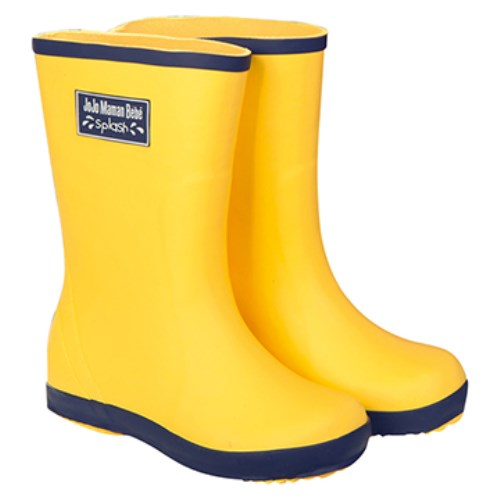 【HELLA 媽咪寶貝】英國 JoJo Maman BeBe 嬰幼兒童雨鞋 黃色(JJWG1-012)