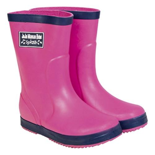 【HELLA 媽咪寶貝】英國 JoJo Maman BeBe 嬰幼兒童雨鞋 桃紅(JJWG1-013)