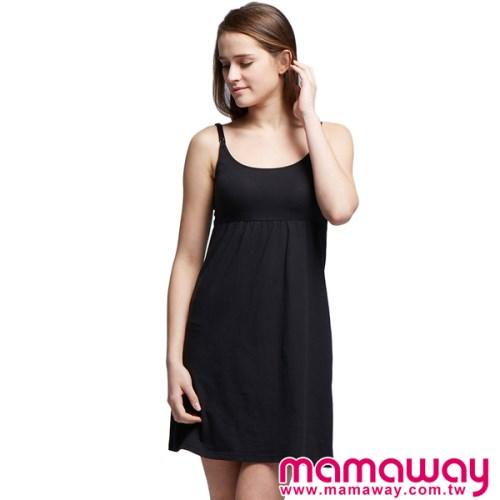 孕婦裝 哺乳衣 孕哺內衣 孕哺居家服 Bra Top 棉感孕哺乳洋裝(共二色) Mamaway