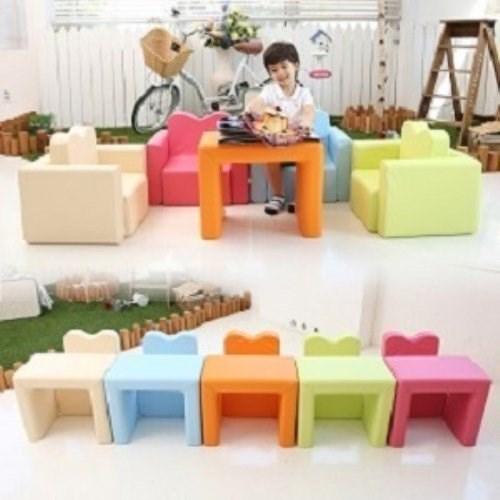 IIZZ POPO 益智寶寶積木沙發 兒童書桌 幼兒 餐桌椅 兒童餐椅 收納 組合 多功能