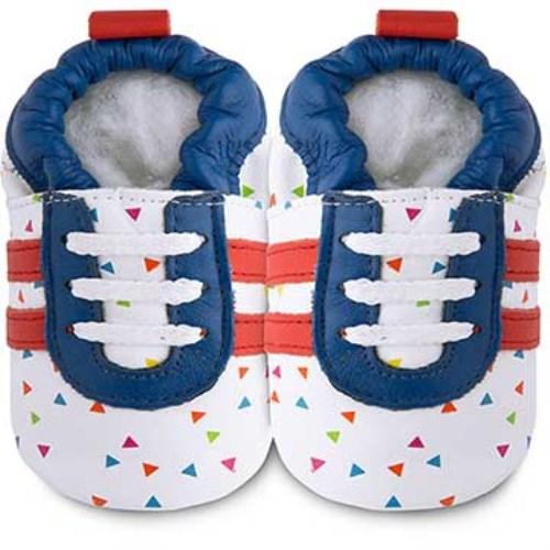 【HELLA 媽咪寶貝】英國 shooshoos 健康無毒真皮手工學步鞋 嬰兒鞋 七彩閃耀 102778 (公司貨)