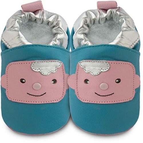 【HELLA 媽咪寶貝】英國 shooshoos 健康無毒真皮手工學步鞋 嬰兒鞋 可愛嬰兒102842(公司貨)