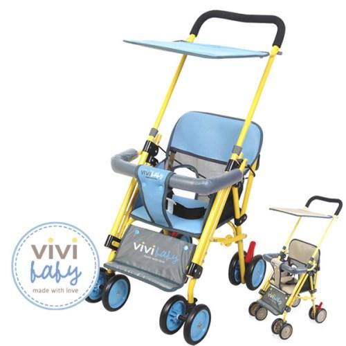【ViVibaby】Easy Go 推車機車椅(黃藍-黃咖)